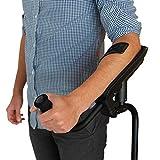 KMINA - KMINA PRO Krücken, Gehhilfe krücken für Senioren, Gehilfen krücken Unterarmstütze mit Stoßdämpfungssystem für mehr Komfort, Aluminium Krucken, Linkes Exemplar