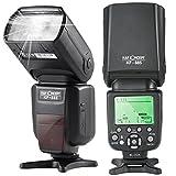 K&F Concept TTL KF-885 Universal Blitz Blitzgerät Blitzlicht für Canon und Nikon Kamera mit HSS 1/8000s Masterblitzfunktion Leitzahl 58
