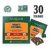 Indiens Original Masala Chai Teebeutel, 30 TEE-TASCHEN, Chai Latte 100% NATÜRLICHE GEWÜRZE & OHNE ZUSÄTZLICHE AROMATEN - Schwarzer Tee, Kardamom, Zimt, schwarzer Pfeffer und Nelke