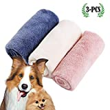 micv Hundehandtuch, Großer Weich Hunde Bademantel Handtuch Microfiber Schnelltrocknend Warm Haustierhandtuch für Hunde Katzen 34 * 80 cm