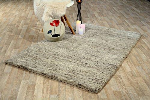 Teppich Rif Deluxe Kiesel Luxuriöser Berber Teppich der Premiumklasse das original aus Marokko (140 x 200 cm)