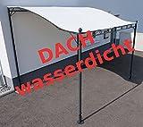 Wand Anbau Pavillon 3 x 2,5 Meter mit Dach 100% wasserdicht UV30+ Model: TOPEA von AS-S