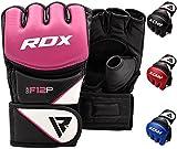 RDX MMA Handschuhe Profi Kampfsport UFC Boxsack Sparring Training Grappling Gloves Freefight Sandsack Maya Hide Leder Punching Handschuhe