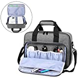 Luxja Beamer Tasche, Tragbar Projektor Tasche für Transport und Aufbewahrung Beamer (Kompatibel mit Epson, Acer, Optoma und andere Beamer), 34,3 cm x 25,4 cm x 10,8 cm, Grau