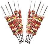 24 Grillspieße Schaschlikspieße aus Edelstahl 60cm | Fleischspieße für BBQ & Grill | Kebab Spieße | Schampura für Mangal von STAR-LINE