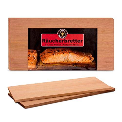 Hochwertige Räucherbretter von Grill Republic I Reines Zedern-Holz aus dem Western Red Cedar für herrliches Raucharoma bei Fisch, Fleisch und Gemüse