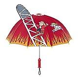 Kidorable Original Gebrandmarkt Kinder Regenschirm Feuerwehrmann für Jungen, Rot