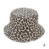 LIWEISDSDFS 2019 Leopardenmuster Fischer Eimer Hut Outdoor Reise Hut Sonnenhut Cap Hüte Für Männer Und Frauen