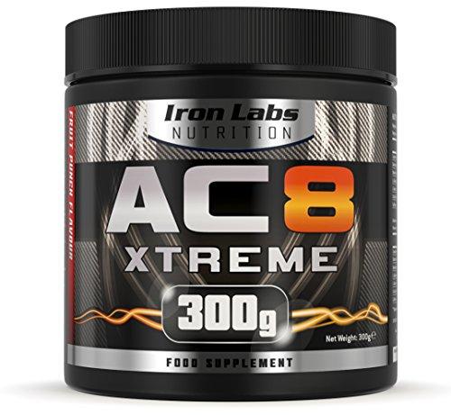 AC8 Xtreme | HARDCORE Pre-Workout Nahrungsergänzungsmittel | MAXIMUM STRENGTH, 20-40 Portionen | 300 g (Frucht-Punsch)
