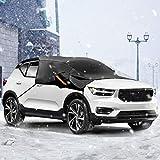 Audew Windschutzscheibe Sechs Materialschichten Windschutzscheibe Auto Winter Halbgarage Anti-Schnee und EIS Truck & SUV Schwarz 230 * 150 * 80 cm