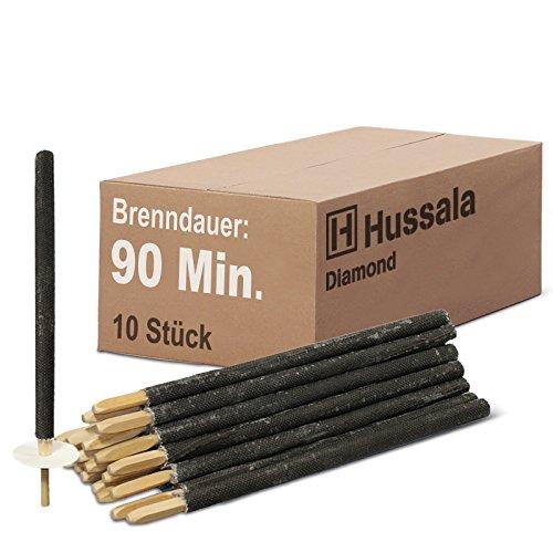 Hussala - Diamond Wachsfackeln Brennzeit 90 min Garten-Fackeln in vers. Stückzahlen (Paketangebote: 10 St. / 25 St. / 50 St. / 100 St. / 200 St.)