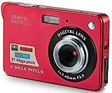 AbergBest 21 Megapixel 2,7'LCD Wiederaufladbare HD Digitalkamera Digitale Videokamera Studentenkamera Indoor Outdoor für Erwachsene/Senioren / Kinder (Rot)