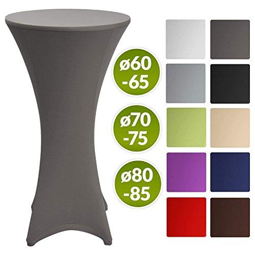 Beautissu Stretch Stehtisch Husse Stella für Bistrotisch Ø 60-65 cm, 70-75 cm, 80-85 cm, Elegante Stretch-Husse in vielen verschiedenen Farben als Tisch-Überzug
