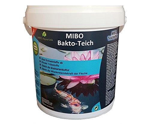 MIBO Bakto Teich 1kg Teichpflege Wasseraufbereiter Schlammabbau Filteraktivator 1kg ausreichend für 30.000 Liter
