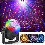 Discokugel, ACCEWIT Mini LED Disco Lichteffekte Discolicht Partylicht 7 Farbe RGB Bühnenlicht mit der Fernbedienung für DJ Disco Kinder Geburtstag Weihnachten Party Hochzeitsfei -1 Pack