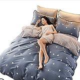 MYZ Flanell Reversible Bettbezüge, Dick Warme Atmungsaktive Luxus Coral Fleece Bettwäsche Lnvisible reißverschluss Maschine waschbar-A 220x240cm(87x94inch)