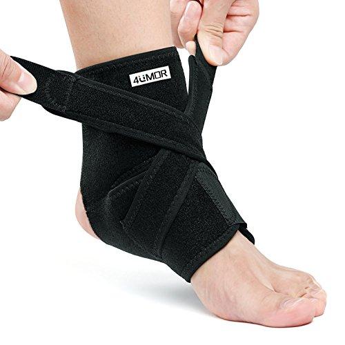 Sprunggelenkbandage,4UMOR Knöchelbandage Sport mit Klettverschluss, Stützt den Fuß beim Sport wie Handball, Fußball, Volleyball für Damen, Herren und Kinder