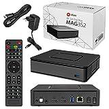 MAG 351/352 Original HB-DIGITAL & Infomir IPTV Set TOP Box WLAN WiFi 802.11 b/g/n/ac, Bluetooth 4.0, Stalker Middleware Multimedia Player Internet TV IP Receiver HEVC H.256 + HDMI Kabel