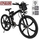 Hiriyt Faltbares E-Bike,36V 250W Elektrofahrräder, 12.8A Lithium Batterie Mountainbike,26 Zoll Große Kapazität Pedelec mit Lithium-Akku und Ladegerät (Schwarz Weiß)
