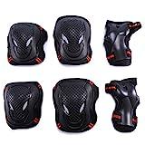 Selighting Protektoren Sets für Kinder Erwachsene Knieschoner Ellenbogenschützer Handgelenkschoner Set Schwarz für Radfahren Roller Skating Inline-Skate (Rot, M)