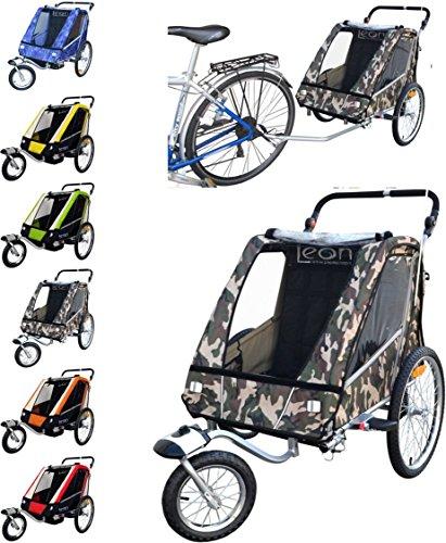 PAPILIOSHOP LEON Kinderanhänger Fahrradanhänger jogger von 1 oder 2 kinder