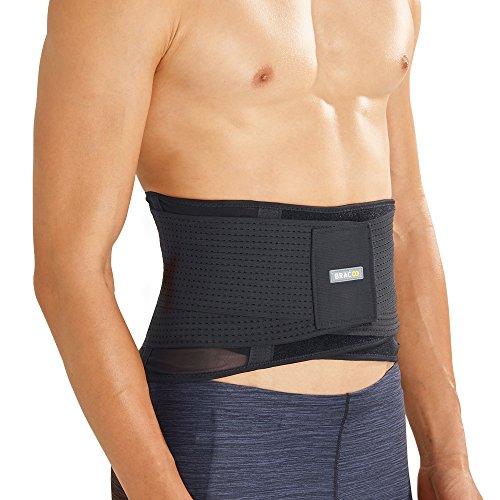 BRACOO Guardian Rückenbandage | ultra-leicht und extra-breit | atmungsaktive Rückenstütze – Lordosenstütze – Lendenwirbelstütze | Lumbalbandage für Damen und Herren | M