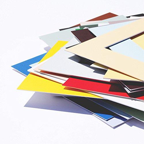 Premium Passepartouts in Museumsqualität - 34 Farben in allen Größen - Reinweiß (Farbe) - (Außen: 50x70 / für Bildgröße: 40x60)