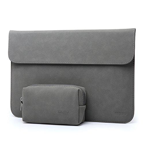 HYZUO 15 Zoll Laptop Hülle Tasche Wasserdichte Laptophülle Laptoptasche Notebooktasche mit Kleine Tragetasche, Dunkelgrau-H
