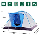 Climecare Zelt 2-3-4 Personen,Familienzelt, Kuppelzelt Outdoor Wasserdicht Campingzelt Iglu-Zelt, Silber beschichtete Faser, 210x210x130cm