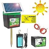 Weidezaungerät Cowboy B 5000 + Batterie + 5 Watt Solar Modul + Zaunprüfer - Das rundum sorglos Paket