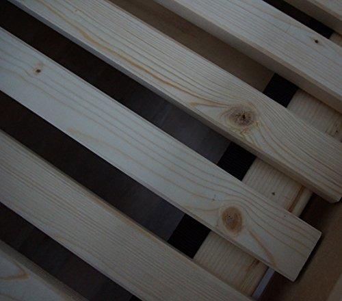 TUGA - Holztech Naturprodukt FSC 28 LEISTEN bis 250Kg in der Größe 180 x 200 cm ROLLROST Lattenrost Qualitätsarbeit aus Deutschland unbehandelt, frei von Chemie