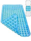 Homerella Badewannenmatte 88x39cm BPA Frei INKL. AUFHÄNGUNG | Antirutschmatte Badewanne maschinenwaschbar schimmelresistent | Badewanneneinlage | Badematte rutschfest (blau)