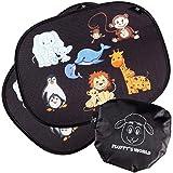Fluffy's World Auto Sonnenschutz Baby - Sonnenblende Autofenster für Kinder - inkl. 6 Saugnäpfen und Tasche