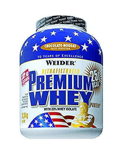 Weider, Premium Whey Protein, Schoko-Nougat, 1er Pack (1x 2,3 kg)