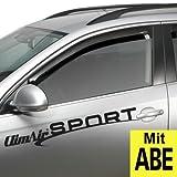 ClimAir CLS0033819D 3819D Windabweiser Profi Vorne, Schwarz