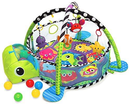 Krabbeldecke mit Spielbogen und Bällen
