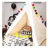 Yuetor Zelt Tipi Kinderzelt Spielzelt für Innen mit Baumwollsegeltuch und Holzstangen