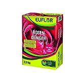 Euflor Rosendünger 2,5 kg•Organisch-mineralischer NPK-Dünger 9+4+8 mit 2% MgO•Spezialdünger für alle Rosenarten•für gesunde und kräftige Rosen und eine reiche Blütenfülle•Langzeitwirkung