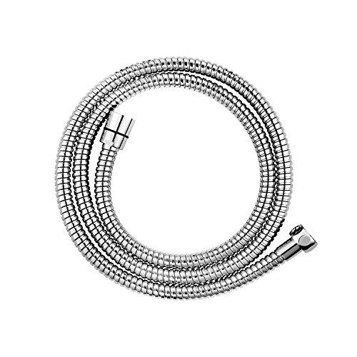 CLOFY Hochwertiger Brauseschlauch 1,5m lange Edelstahl Metaflex Doppel-Lock 1/2, Duschschlauch Brauseschlauch, 10 Jahre Zufriedenheitsgarantie, Chrom