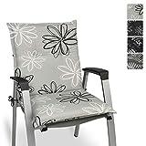 Beautissu Floral Niedriglehner Auflage für Gartenstuhl 100x50 cm - Bequemes Sitzkissen Polsterauflage UV-Lichtecht - weitere Designs erhältlich