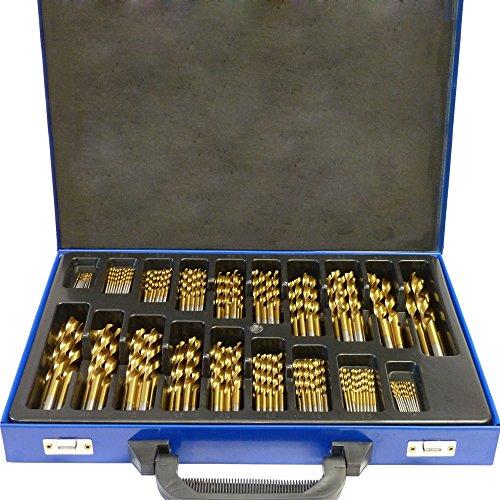 SAILUN Metallbohrer Set 170-teilig Metallbohrersortiment HSS geschliffen, Split Point Handbohrmaschine Profi-Steinbohrersatz Bohrer Set Spiralbohrer Bohrersets (170 pcs)
