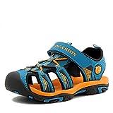 Jungen Sandalen, Kinder Jungen Mädchen Sandalette Schuhe Outdoor Sport Sandalen Klettverschluss Sommer Schuhe,Blau,25 EU
