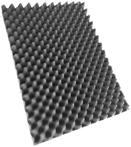 Noppenschaumstoff, Akustik Schaumstoff, Akustikschaumstoff, Dämmung (500 mm x 350 mm x 50 mm) (groß, 1x Noppenschaum (500mm x 350mm x 50mm))