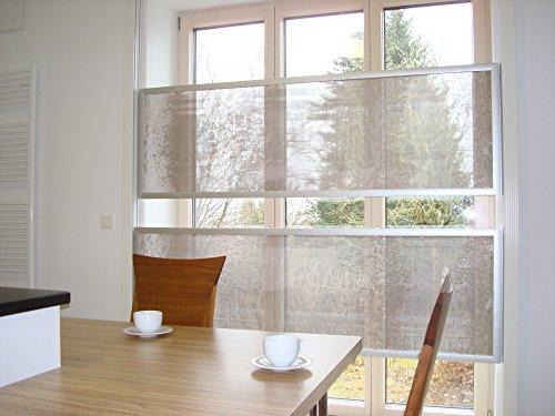 'hori:zon': der gekippte Flächenvorhang: die Paneele werden vertikal von oben nach unten bewegt: mehr Tageslicht: mehr Design, mehr Komfort Bauhaus am Fenster: grifflos, schnurlos, faltenfrei, schnörkellos