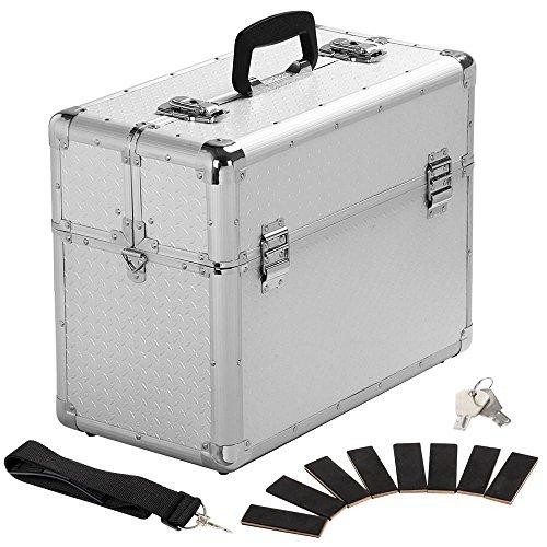 Yaheetech Alu Werkzeugkoffer Multikoffer Werkzeugkiste Koffer+ Schlüssel Tragegurt