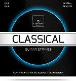 Gitarrensaiten Konzertgitarre  Premium Nylon Saiten für klassische Gitarre & Akustikgitarre (6 Saiten-Set) + E-Book