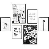Heimlich Premium Poster Set | Stilvolles Set mit passenden Bilder als Wohnzimmer Deko | 2 x DIN A3 & 4 x DIN A4 - ca. 30x40 & 20x30 | Auch mit Bilderrahmen » All WE Have is Now «
