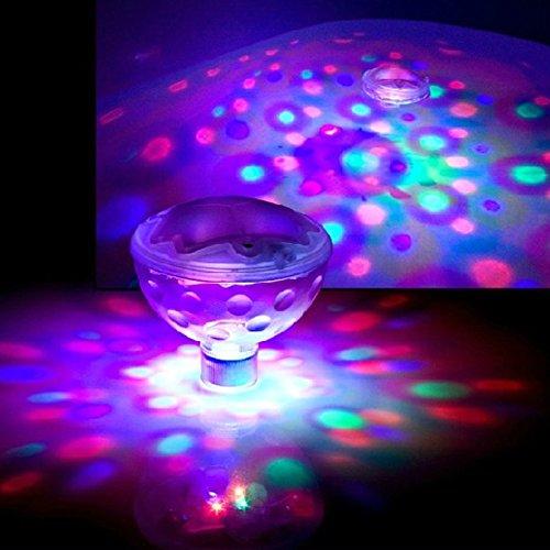 LED-Schwimmleuchten/Unterwasserleuchten mit Discokugeleffekt, für Bad, Spa und Pool, 2 Stück