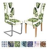 Homaxy Stretch Beschützer Schwingstuhl Stuhlhussen Blumen Set Moderne Universal Hussen für Stuhl Esszimmer, Elastische Waschbare Stuhlbezüge (6 Stück, Style 2)