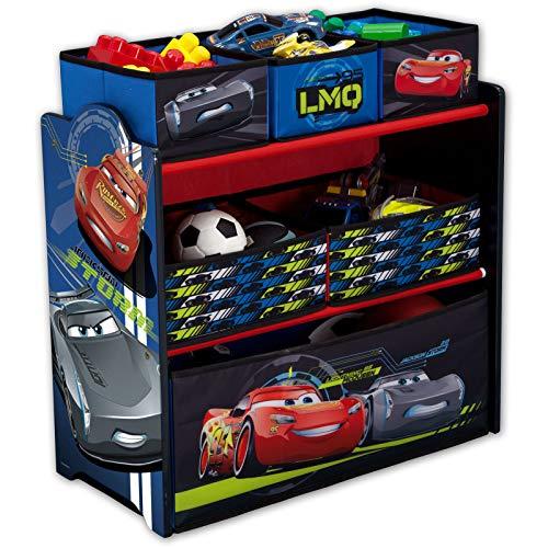 Spielzeugregal - Standregal - Aufbewahrungsregal 6 Boxen mit Motivauswahl (Cars Legends)